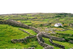 Typical scenery on Inisheer (Inis Oírr), Aran Islands.