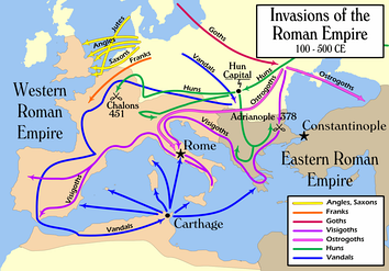 2nd century to 6th century simplified migrations