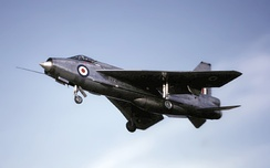 The supersonic fighter English Electric Lightning, a mainstay of Fighter Command during the Cold War years.