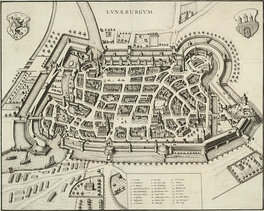 Lüneburg, some two decades before Bach's stay in that town: St Michael's pictured in lower right