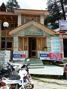 Police Assistance Booth, Manali, Himachal Pradesh, India