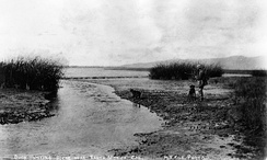 Duck hunting on the Ballona lowlands, 1890.