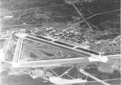 Oblique aerial photo in June 1945 of Mountain Home Army Air Field