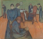 Death in the Sickroom, c. 1895, oil on canvas, 150 cm × 168 cm (59 in × 66 in), Nasjonalgalleriet, Oslo