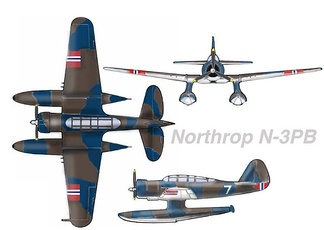 "Northrop N-3PB in ""Little Norway"" colours, c. 1941"