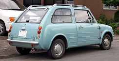 Nissan Pao finished in Aqua Gray (rear)