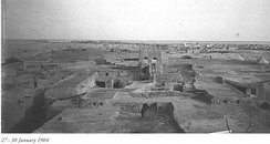 Old city of Doha, January 1904.