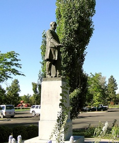 Statue honoring Paris Gibson at Gibson Park, Great Falls, Montana