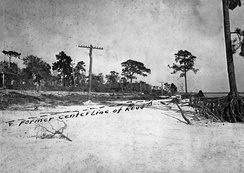 A road washed out in Pinellas County