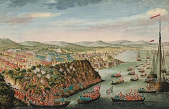 After a three-month siege of Quebec City, British forces captured the city at the Plains of Abraham.