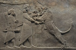 Part of the Lion Hunt of Ashurbanipal, c. 645–635 BC