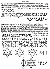 An excerpt from Sefer Raziel HaMalakh, featuring various magical sigils (סגולות segulot in Hebrew)