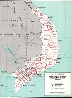 Map of South Vietnam.