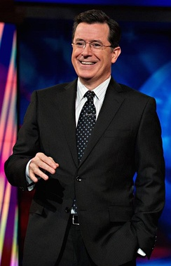 Colbert on the set of The Colbert Report in 2011.