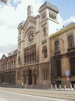 The Great Synagogue of Brussels, built in 1875.