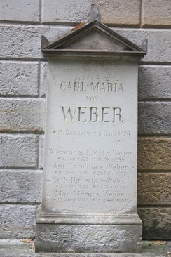 The grave of Carl Maria von Weber, Old Catholic Cemetery, Dresden