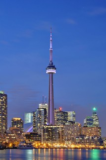 The CN Tower is a major tourist attraction in Toronto.