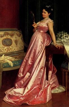 Фрагмент картины Огюста Тульмуша «Зеркало» (1868)