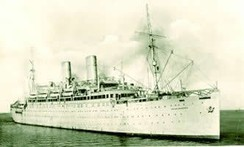The Empire Windrush which brought immigrants from the Caribbean to Tilbury in 1948.