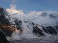 Гора Белуха, вид с ледника на северный склон