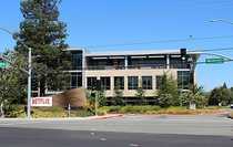 Netflix's longtime Los Gatos headquarters location and current legal address at 100 Winchester Circle (Building A)