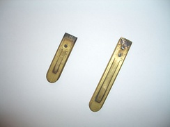 Two reeds from a reed organ