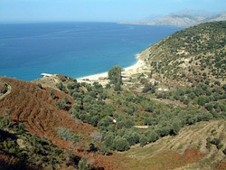 The Albanian Riviera and its olive and citrus plantations.