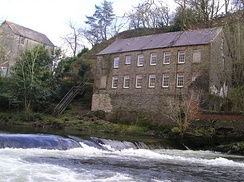 Allt-y-cafan Mill beside the River Teifi from which it got its power