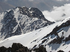 Toubkal, the highest peak in Northwest Africa, at 4,167 m (13,671 ft)