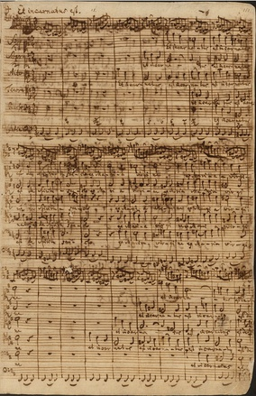 "Bach's 1748–1749 autograph score of the ""Et incarnatus est"", 13th movement of his Mass in B minor[1]"