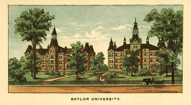 In 1892, Baylor University had two main buildings, Old Main and Burleson Hall
