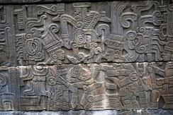 Panel showing ballplayer being beheaded, Classic Veracruz culture, Mexico