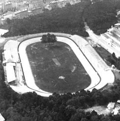 View of the velodrome as it looked around the turn-of-the-century (1900)