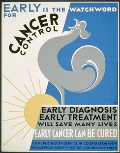 1938 American Society for the Control of Cancer poster