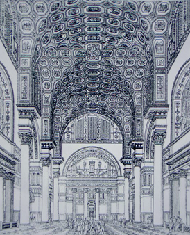 The Baths of Caracalla (reconstructive drawing from 1899)