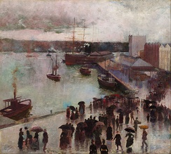 Departure of the Orient – Circular Quay, Charles Conder (1888)