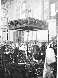 King Peter I's coronation on 21 September 1904