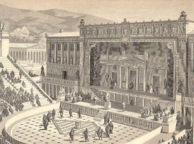 Artist's impression of the Theatre of Dionysus