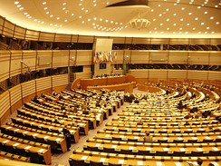 The EU parliament in Brussels. Sweden is one of 28 member states of the European Union.