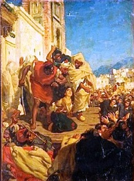 """Execution of a Moroccan Jewess (Sol Hachuel)"" a painting by Alfred Dehodencq"