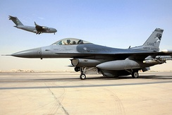 114th Fighter Wing F-16 at Balad AB, Iraq, 2010