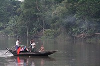 Fishing boat in Sundarbans