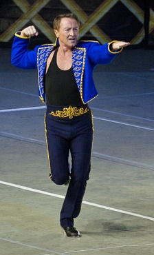 Flatley as Lord of the Dance during his return
