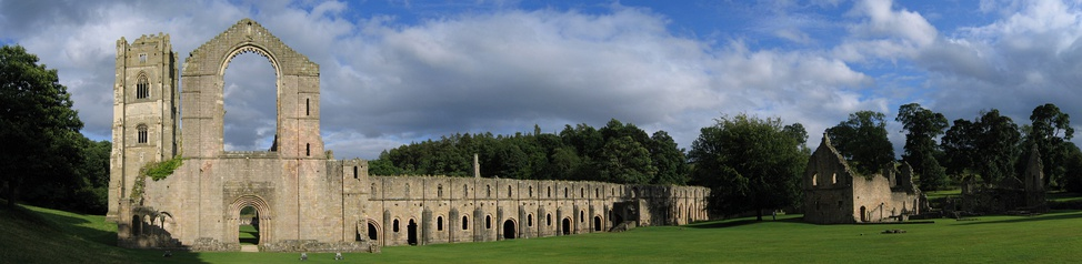View of Fountains Abbey looking from west to south