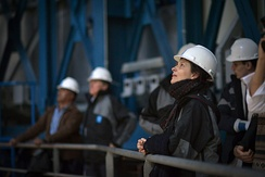 Juliette Binoche in one of the Very Large Telescope enclosures[164]