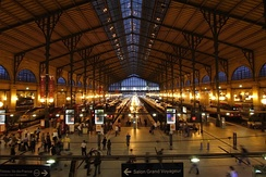 The Gare du Nord railway station is the busiest in Europe.