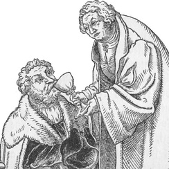 Luther communing John the Steadfast