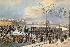 Decembrists at the Senate Square, December 26, 1825.