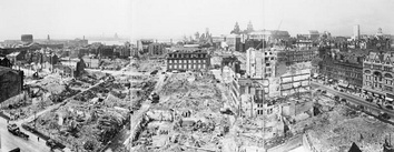 Liverpool city centre after heavy bombing