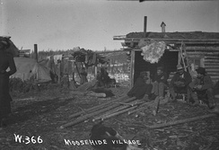 Moosehide village near Dawson City in 1900